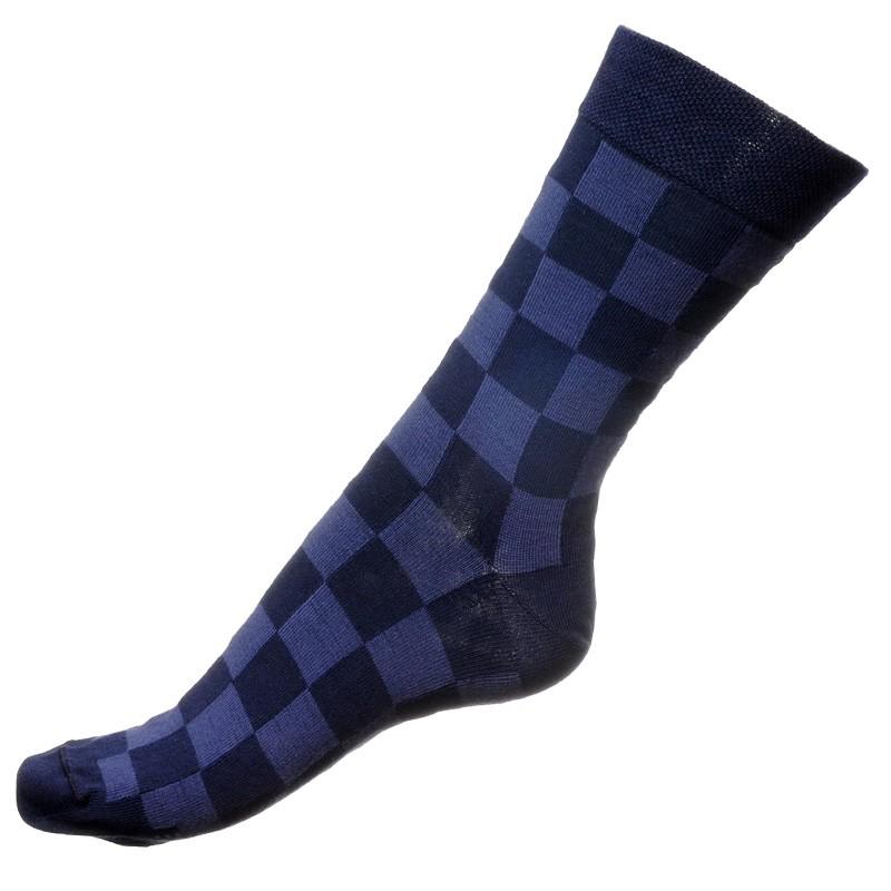 Ponožky Phuseckle Modrá Kostka