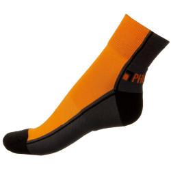Pánské ponožky PHUSECKLE oranžovo / černé půlené