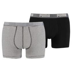 2PACK Pánské Boxerky Puma Black White Long