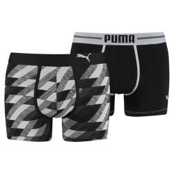 2PACK Pánské Boxerky Puma Argyle Print Black Long