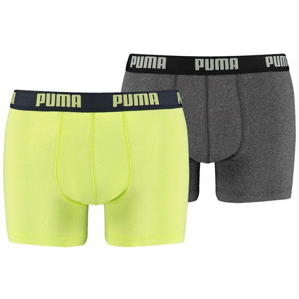 2PACK Pánské Boxerky Puma Sharp Green Long