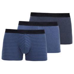 3PACK Pánské Boxerky S.Oliver Blue Striped