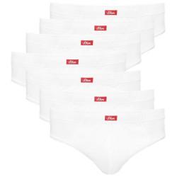 7PACK Pánské slipy S.Oliver bílé (172.11.899.18.237.0100)