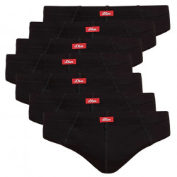 7PACK pánské slipy S.Oliver černé (26.899.97.2942. 9999)