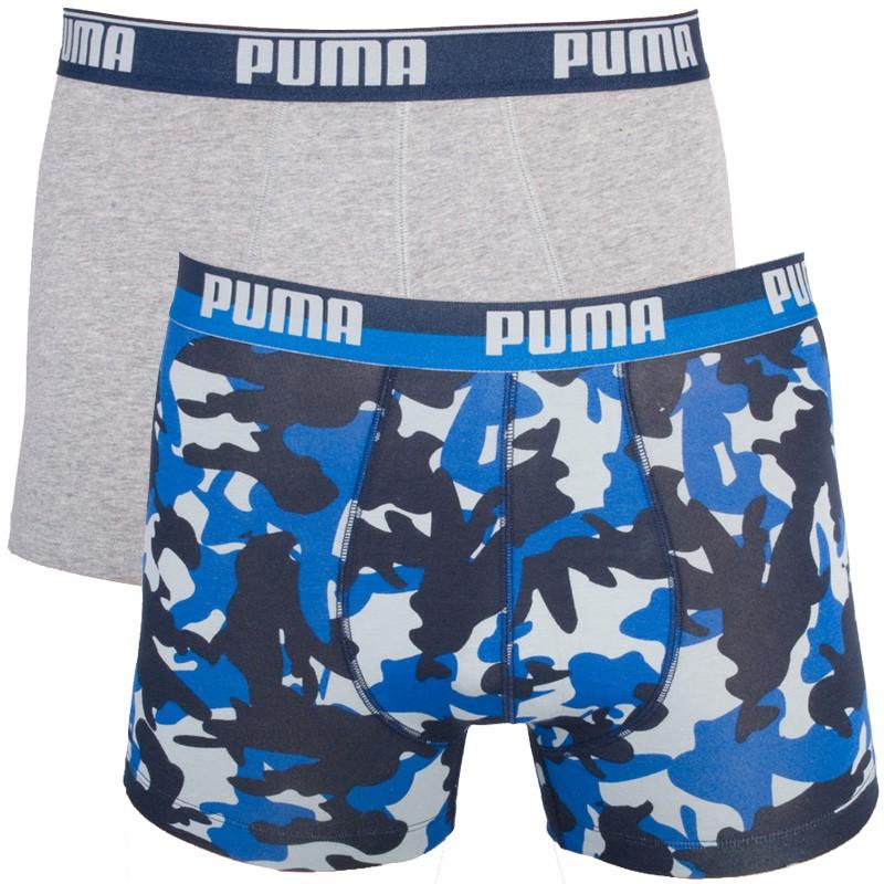 2PACK Pánské Boxerky Puma Team Royal Blue Long