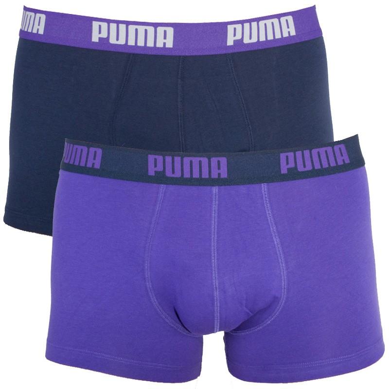 2PACK Pánské Boxerky Puma Purple Peacoat Short