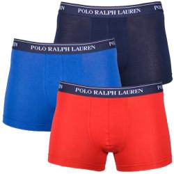 3PACK Pánské Boxerky Polo Ralph Lauren Red Blue Dark Blue
