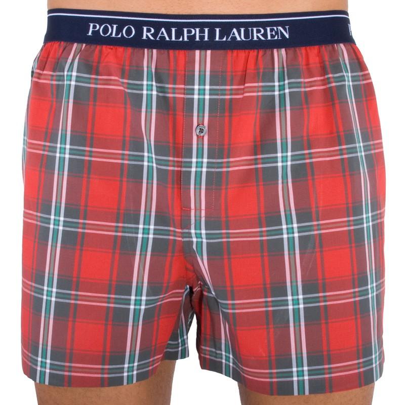 Pánské trenýrky Ralph Lauren červená kostka S