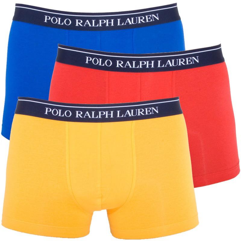 3PACK pánské boxerky Ralph Lauren modro červeno žluté