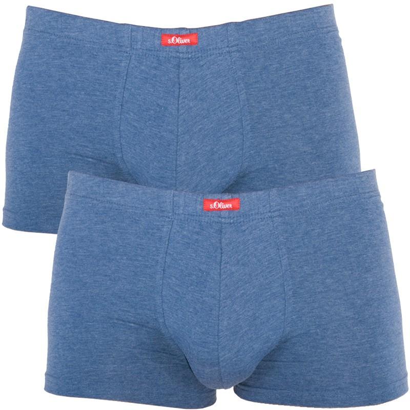 2PACK Pánské Boxerky S.Oliver Medium Blue