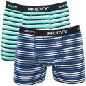2PACK pánské boxerky Molvy vícebarevné (KP-044-BEU)