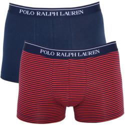 2PACK Pánské Boxerky Polo Ralph Laurek Red Dark Blue Stripes