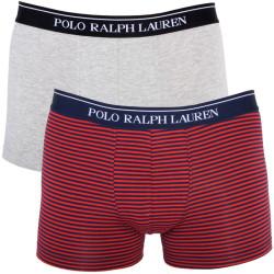 2PACK Pánské Trenýrky Polo Ralph Lauren Grey Red Blue Stripes