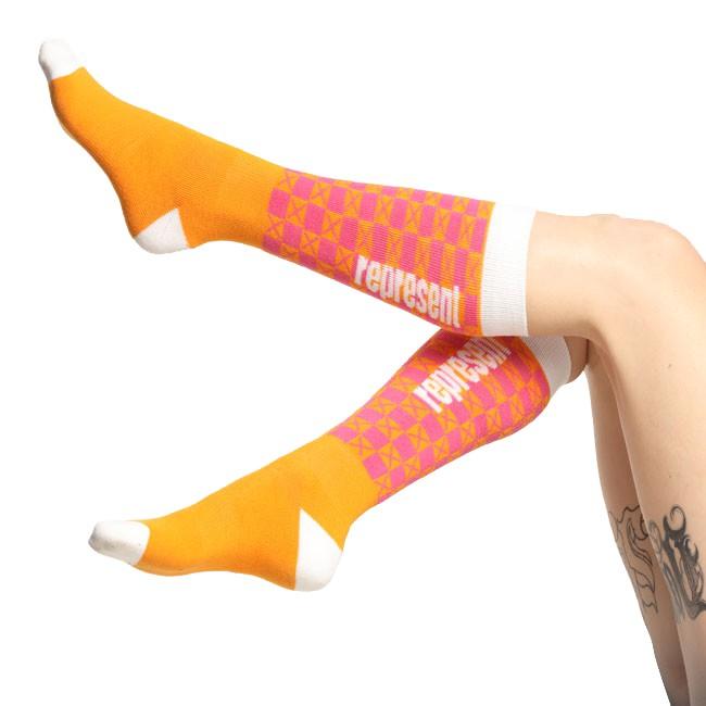 Ponožky Represent Podkolenky Socks Knee Pat One Meruňková