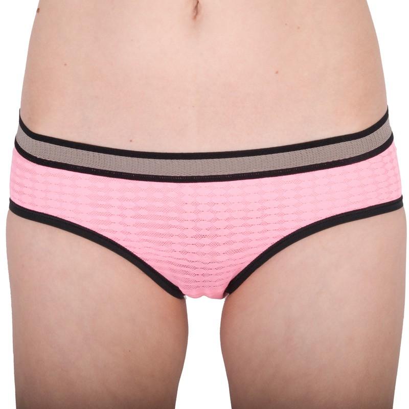 Dámské Kalhotky Victorias Secret Hiphugger Lace Pink