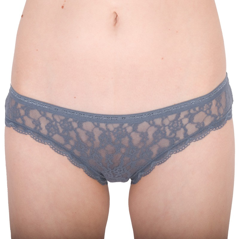Dámské kalhotky Victoria's Secret lace bikini panty šedé S