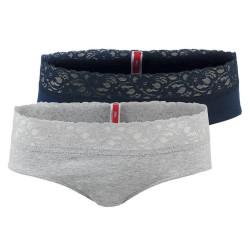 2PACK Dámské Krajkové Kalhotky S.Oliver Blue Taupe