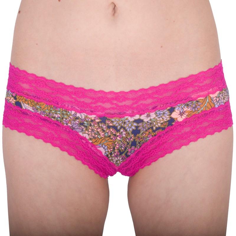 Dámské Kalhotky Victorias Secret Cheeky Pink Flowers