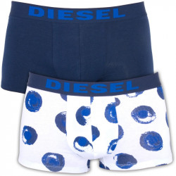 2PACK Pánské Boxerky Diesel Shawn Seasonal Edition Blue White