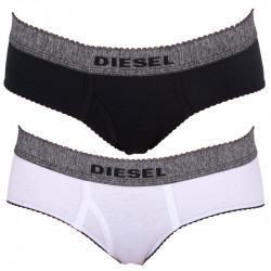 2PACK Dámské Kalhotky Diesel Mutande Oxy Black White