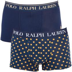 2PACK Pánské Boxerky Polo Ralph Lauren Blue With Yellow Dots Gift Box
