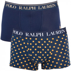 2PACK Pánské Boxerky Polo Ralph Lauren Blue With Yellow Dots Gift Box