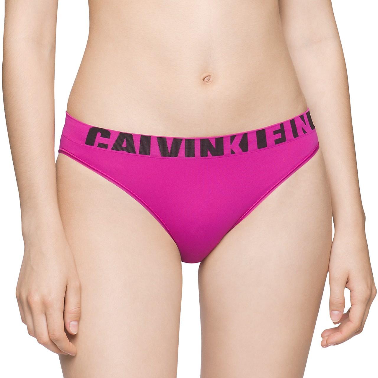Dámská Tanga Calvin Klein Seamless Thong Pink