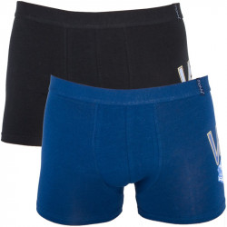 2PACK Pánské Boxerky Molvy Blue Black Car