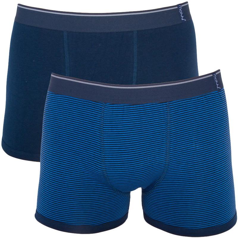2PACK pánské boxerky Molvy tmavě modré proužky M