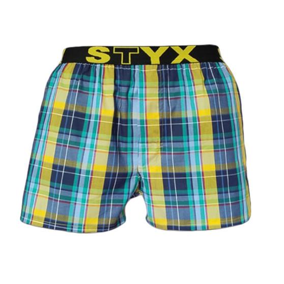 Pánské trenky Styx sportovní guma vícebarevné (B514)
