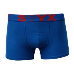 Pánské boxerky Styx sportovní guma nadrozměr modré (R662)