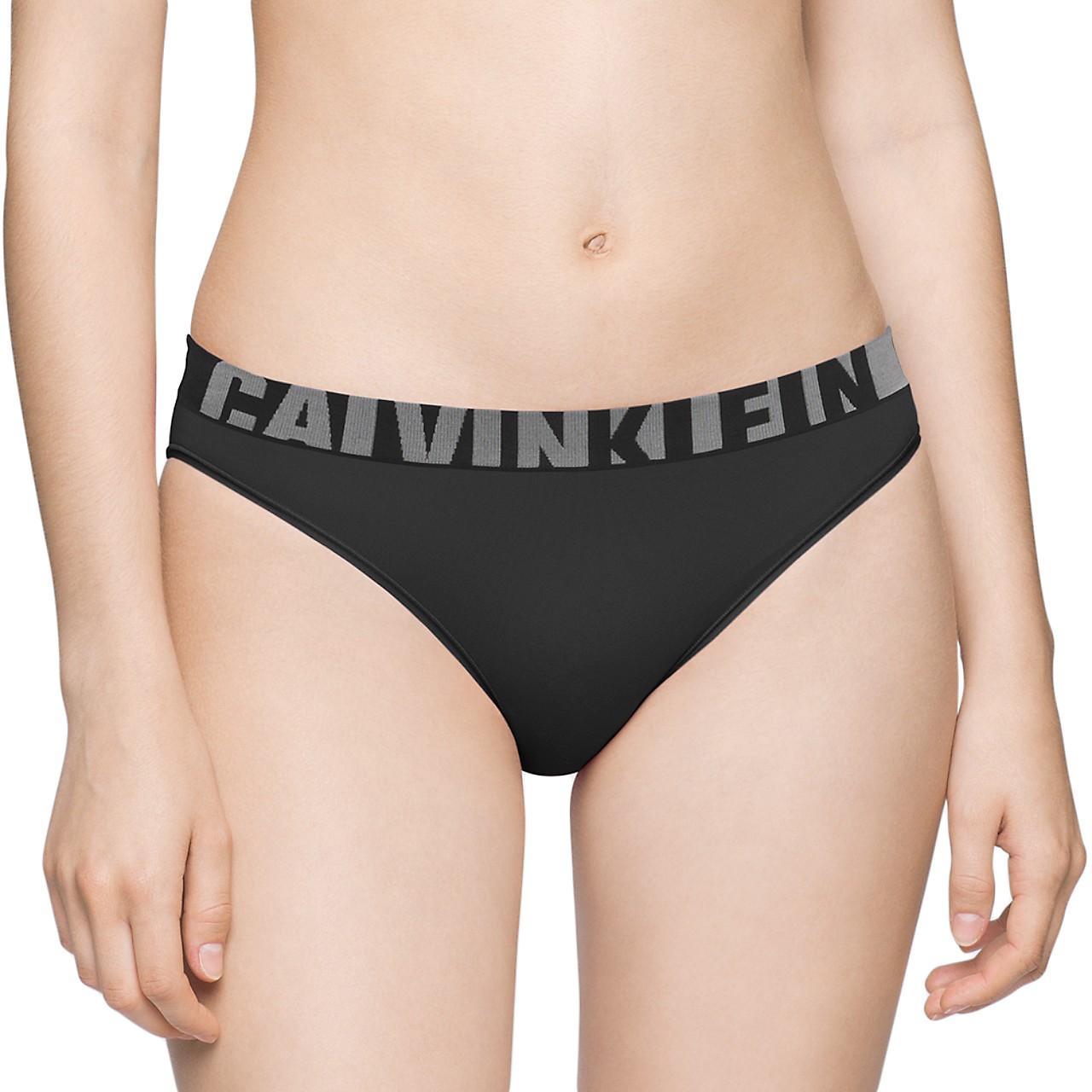 Dámská tanga Calvin Klein Seamless černé L