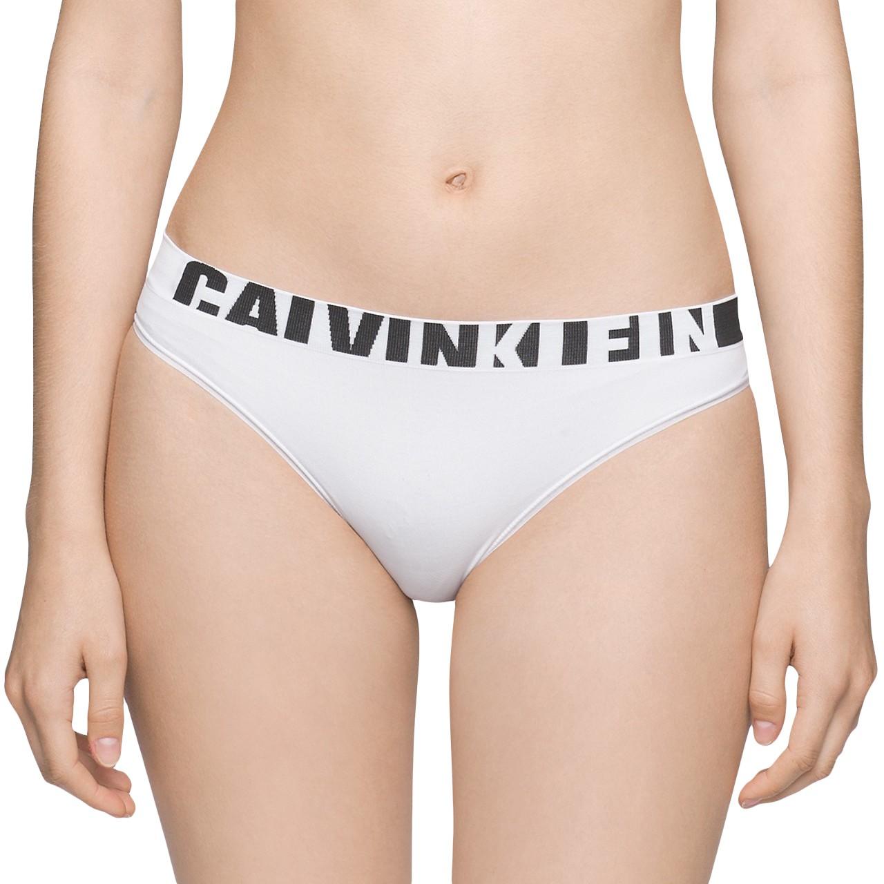 Dámské kalhotky Calvin Klein Seamless bikini bílé XS