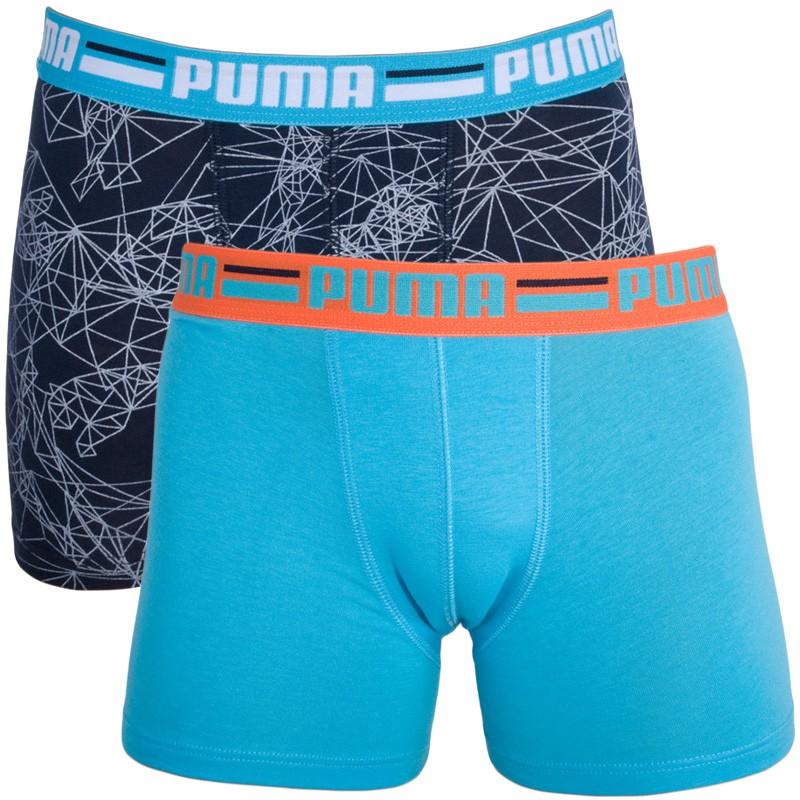 2PACK Chlapecké Boxerky Puma Dress Blues 140