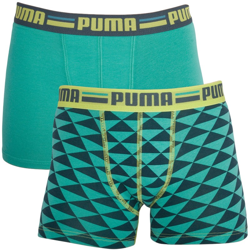 2PACK Chlapecké Boxerky Puma Sea Green 140