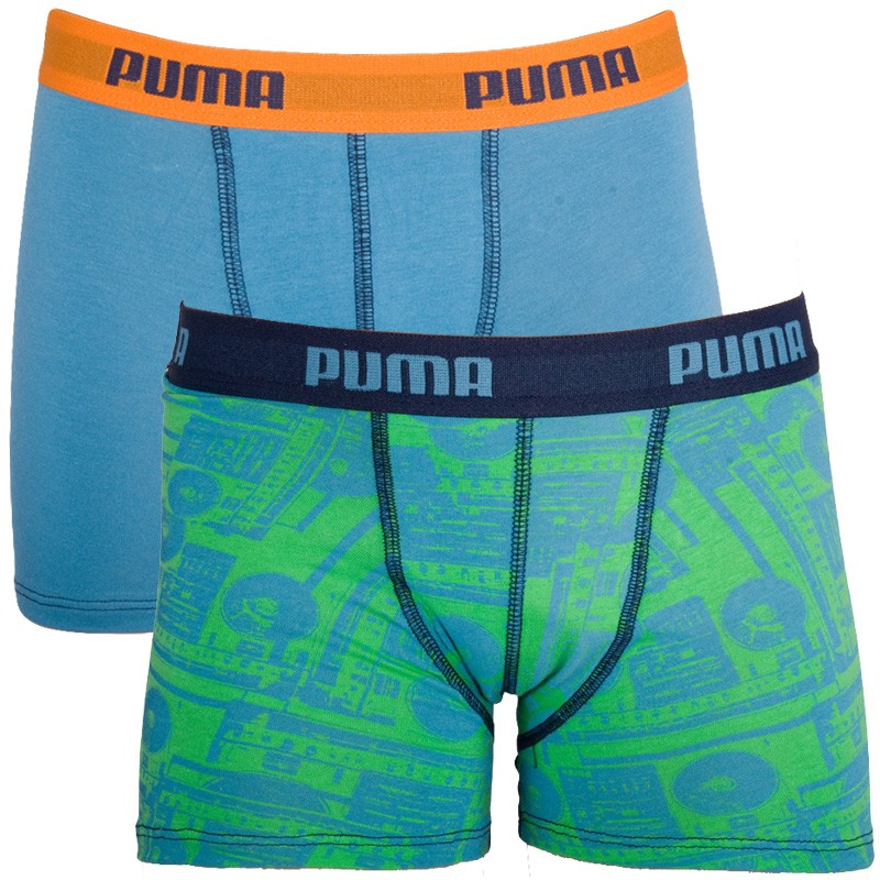 2PACK Chlapecké Boxerky Puma Poison Green 152