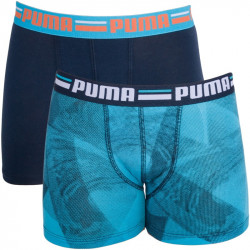 2PACK Chlapecké Boxerky Puma Blue Atoll