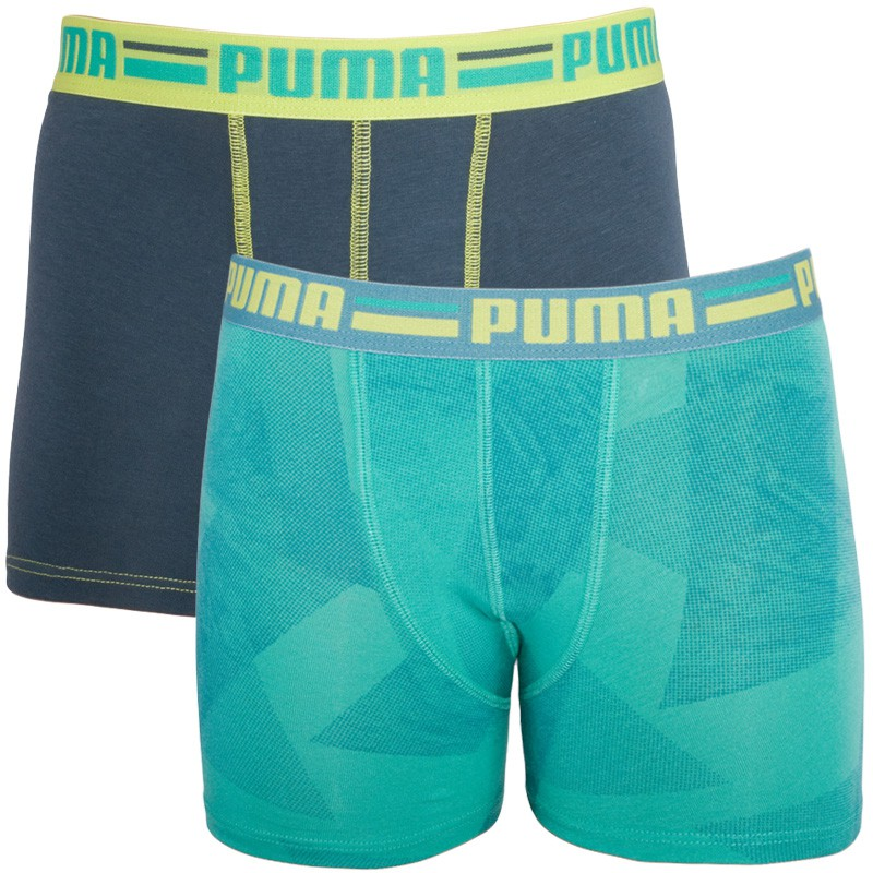 2PACK Chlapecké Boxerky Puma Sea Green 152