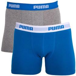 2PACK Chlapecké Boxerky Puma Blue Grey