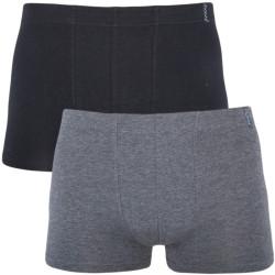 2PACK Pánské Boxerky Molvy Style Černo Šedé