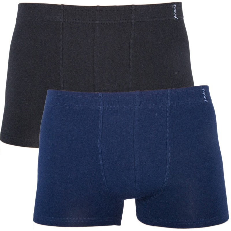 2PACK Pánské Boxerky Molvy Style Tmavě Modré Černé