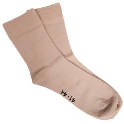 Ponožky Gino Bamboo Bezešvé Klasické Koňak
