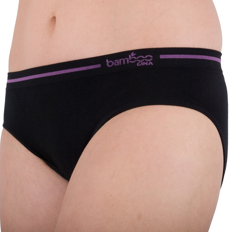 Dámské Kalhotky Gina Bamboo Bezešvé Černé