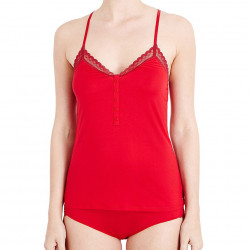 Calvin Klein Playful Cami Jersey Hipster Red Pyjama Set