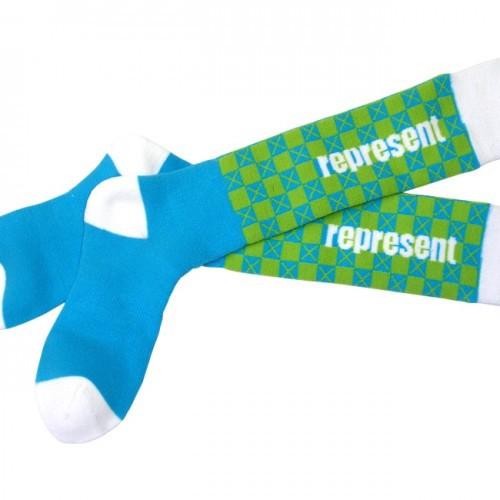 Ponožky Represent Podkolenky Socks Knee Pat One Nebeská Modř M