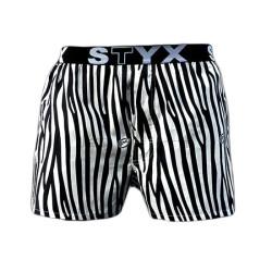 Pánské trenky Styx art sportovní guma zebra (B650)