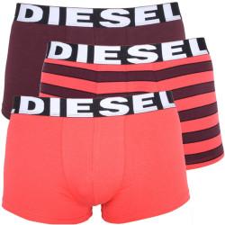 3PACK Pánské Boxerky Diesel Seasonal Edition Red Bordo Stripes