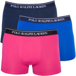 3PACK Pánské Boxerky Polo Ralph Lauren Blue Pink Dark Blue