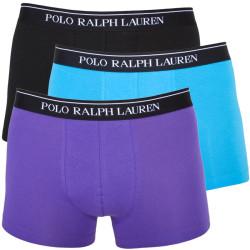 3PACK Pánské Boxerky Polo Ralph Lauren Blue Black Lila