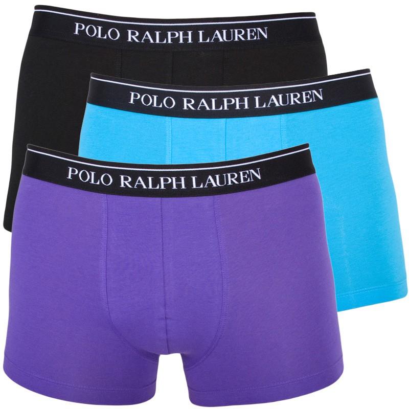 3PACK Pánské Boxerky Polo Ralph Lauren Blue Black Lila M